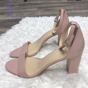 Vince Camuto pink nude leather heels shoes nwt